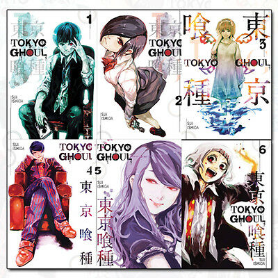 Tokyo Ghoul Volume 1-6 Collection Sui Ishida 6 Books Set Pack  Pokemon NEW