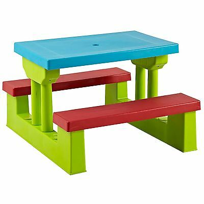 Kids Picnic Table Bench Set Childrens Outdoor Garden Furniture 4 Seater New