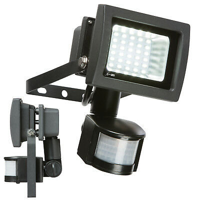 Knightsbridge Pre-Wired LED Floodlight/Security Light With PIR Black 230V 15W