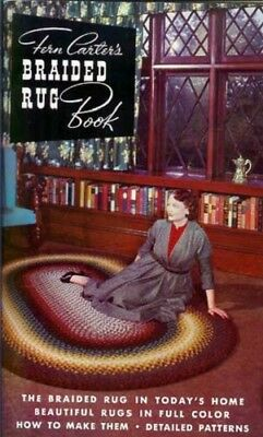 Braided Rug Book, Fern Carter, braiding rugs, patterns  Used, vintage