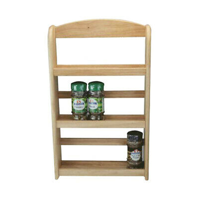 3 Tier Wooden Spice Rack Herb Storage Holder Free Standing or Wall Mounted NEW