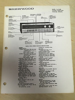 Sherwood Service Manual for the S-7300 Receiver