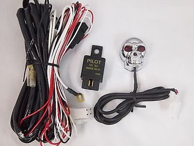 SKULL WIRING HARNESS Switch Fuse a Piaa Bosch Kc Fog ... on kc hilites relay diagram, kc 3300 relay interchange, kc driving lights wiring, bosch automotive light relay, 12 volt light relay,