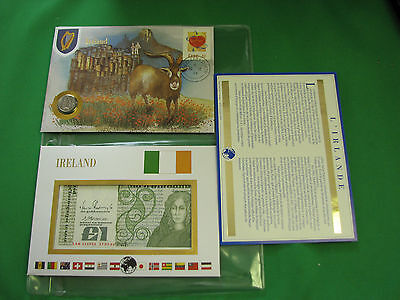 Ireland Banknote ,Stamp First day Cover Mint , Coin  Presentation Set French