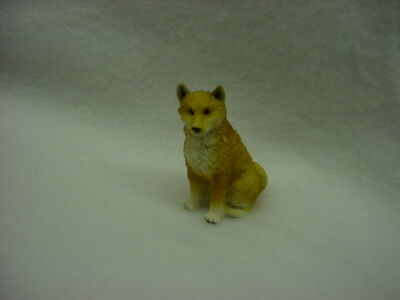 SHIBA INU puppy TiNY DOG Figurine HAND PAINTED MINIATURE Collectible MINI Statue
