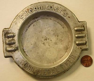 1940-50s Era Wilkes Barre,Pennsylvania Stegmaier's Gold Medal Beer metal ashtray