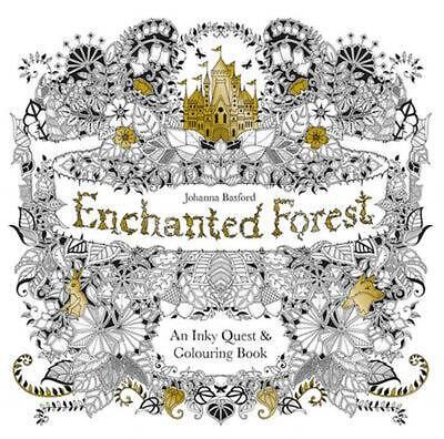 Enchanted Forest: An Inky Quest & Coloring Book (English) Paperback Book Free Sh