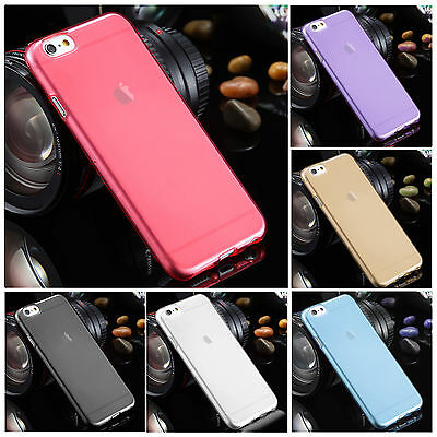 Transparent Clear Silicone Slim Gel Case Cover Skin For Various Mobile Phones