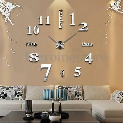 Impermeable EVA+Acrylic Moderna DIY 3D Mirrors Wall Clock Espejo Reloj de Pared