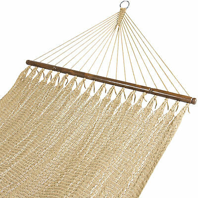 BCP Double Two Point Tight Weave Caribbean Hammock Outdoor Garden Patio