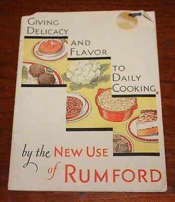 Vintage 1931 Rumford Baking Powder-64 New Uses In Daily Cooking Cookbook 29 Pgs