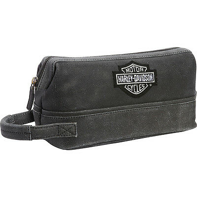 Harley Davidson by Athalon Leather Toiletry Kit 4 Colors