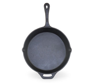 ForHauz Pre-Seasoned Round Cast-Iron Skillet Cooker Pan W/ Handle 12 Inch