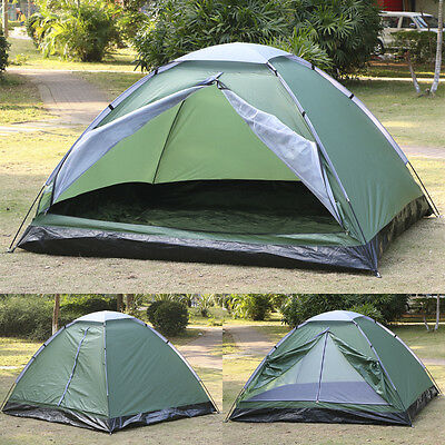 Camping Tent 3-4 Person Man Family Travel Pop Up Fast Pitch Tent Hiking Outdoor