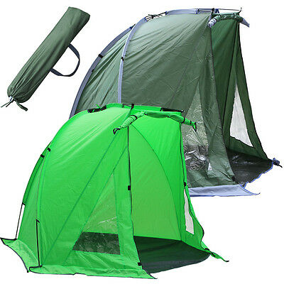 UK Fishing Bivvy Day Shelter Waterproof Tent With Bag and Ground Sheet Fortress
