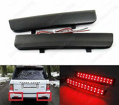 2003-12 Land Rover Range Rover L322 Black Lens LED Rear Bumper Reflector Light