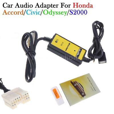 Auto Car USB Aux-in Adapter MP3 Player Radio Interface For Honda Accord CRV M7I7