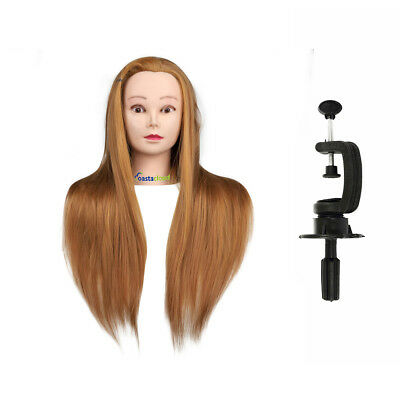 Multi -Color 100% 90% 80% 70% Real Human Hair Salon Hairdressing Head Mannequin