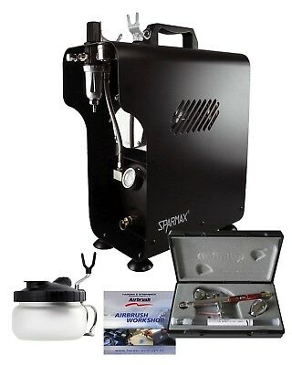 Premium Airbrush Kit With Infinity CRplus 2 in 1 #2 & Sparmax 620X Compressor