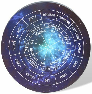 Round Astrology pendulum board - perfect for Reiki, Dowsing, Divination readings