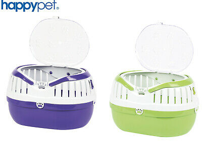 Happypet Out & About Hamster Mouse Reptile Bird Holiday Vet Carry Cage 2 Colours
