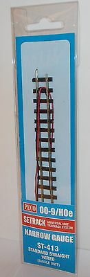 Peco Setrack (00-9/H0e) ST-413 Standard Straight, Wired x 1 (Narrow Gauge) New.