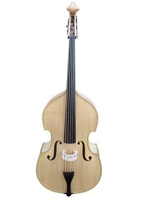 Double Bass 3/4 size new 5-strings full-carved, Natural/Blonde