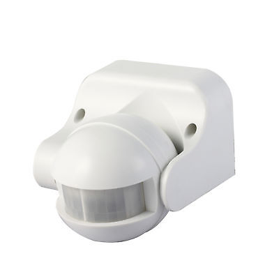 Knightsbridge IP44 180° PIR Motion Sensor For Wall/Ceiling Home Security - White