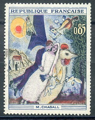 Stamp / Timbre France Oblitere N° 1398 Tableaux Chagall