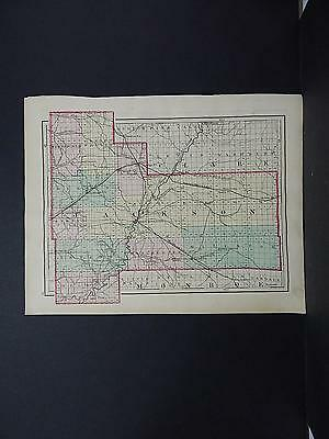 Wisconsin 1876 County Map, Double Sided, Jackson or Trempealeau