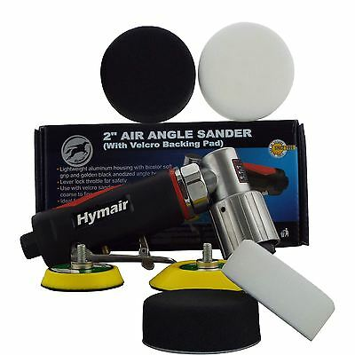 "75mm (3"") Mini DA Air Polisher Kit + 2 Polishing & 2 Compounding Foam Heads"