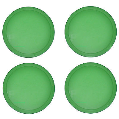 4 Lg Green Commercial Air Pucks for Table Hockey 3.25 inch part.