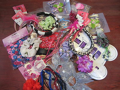 WHOLESALE Job Lot 30 CARDS / Items Kids Hair Accessories Girls  Party Bags