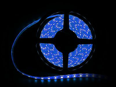 "DIY add beautiful showcase, small space lighting, Blue LED Ribbon Strip 197"" NEW"