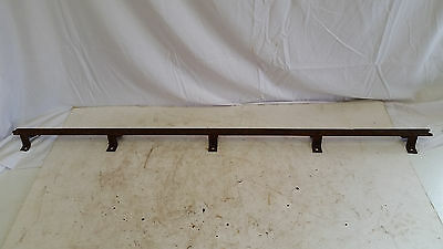 "antique iron sliding barn door track only, 48"" long,1-5/8"" standoff"
