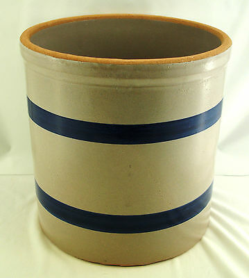 "Robinson-Ransbottom (R.r.p.) ""williamsburg"" - 4 Quart High Jar / Utensil Crock"