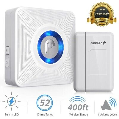 Fosmon Wireless Doorbell Magnetic Door Window Sensor Retail Store Home Alarm