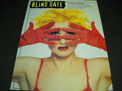 CYNDI LAUPER musical blind date VINTAGE full page magazine FRAMEABLE IMAGE/text
