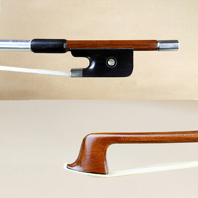 great performance pernambuco viola bow ebony frog strong bow Silver Mounted 4/4