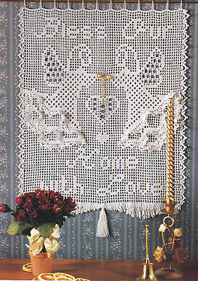 Crochet Pattern ~ ANGELS BLESSING WALL HANGING ~ Christmas, Instructions