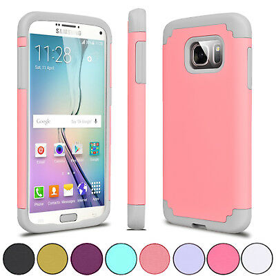 Hybrid Rugged Rubber Shockproof Slim Case Cover For Samsung Galaxy S7 / S7 edge