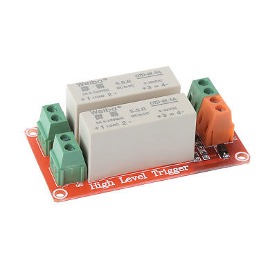 1pc 2 Channel SSR Solid State Relay High-low trigger 5A 5v12v For Arduino Uno R3
