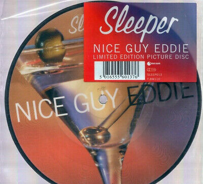 """Sleeper Nice Guy Eddie 1996 Indolent Records 7"""" Limited Edition Picture Disc"""