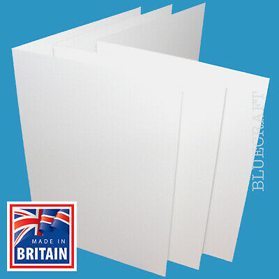 50 x A4 LARGE White Card Blanks Thick 400gsm Cardmaking