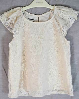 Monsoon girls ivory lace top wedding, flower girl  age 3 4 7 8 12 13 new