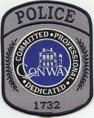 new style CONWAY SOUTH CAROLINA SC Committed Professional Dedicated POLICE PATCH