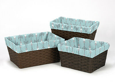 Earth Sky Arrow Organizer Storage Kid Basket Liners Fits Small Medium Large Bin