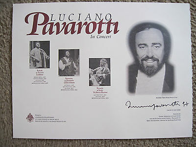 Luciano Pavarotti In Concert - Signed By Pavarotti - Poster Limited 1000 Copies