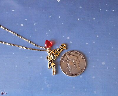 Betty Boop Necklace-3 Drops New on card
