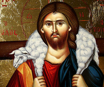 Jesus Christus gute Hirte Ikone Icon good shepherd Ikona Ikonen orthodox Icoon